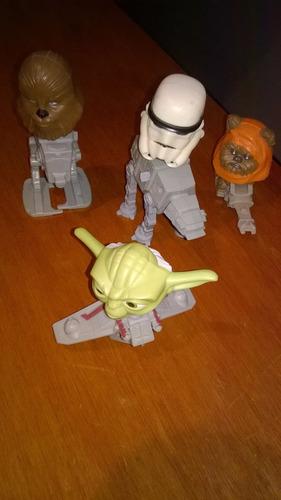muñecos de la guerra de las galaxias x 4