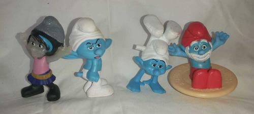 muñecos de los pitufos mc donalds