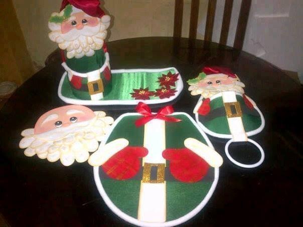 Muñecos De Navidad (juegos De Baño Varios) - Bs. 23.000,00 ...
