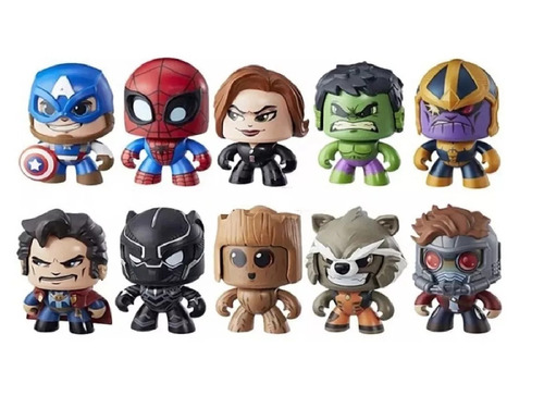 muñecos funko pop mighty muggs thanos spiderman hulk thor