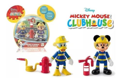 muñecos mickey & donald bombero to the rescue