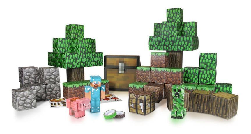 Munecos Minecraft Kit Imprimible Minecraft Para Armar 144 00