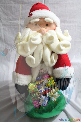 muñecos navideños papa noel gordo lindo
