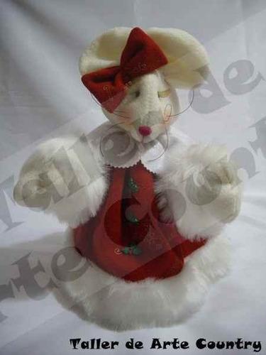 muñecos navideños ratona moñito