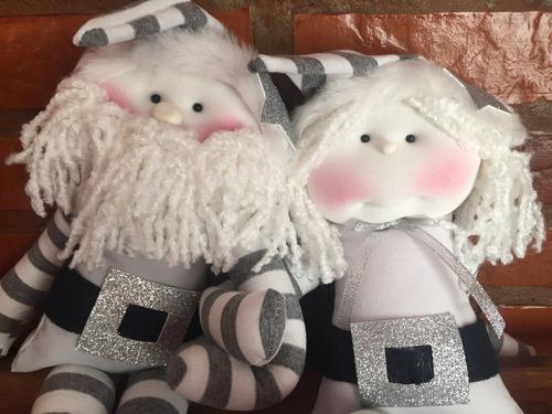 muñecos papá noel o mamá noel soft para decorar