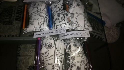 muñecos para pintar 20 cm  con fibras ideal souvenir