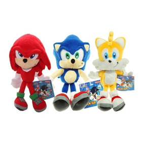 Muñecos Peluche Sonic Knukles And Tails 30 Cm¡