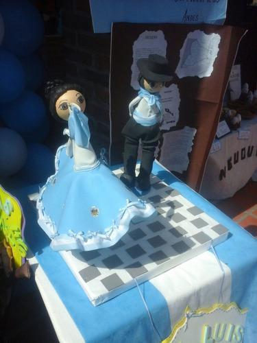 muñecos personalizados goma eva bailarines folclore 25 mayo