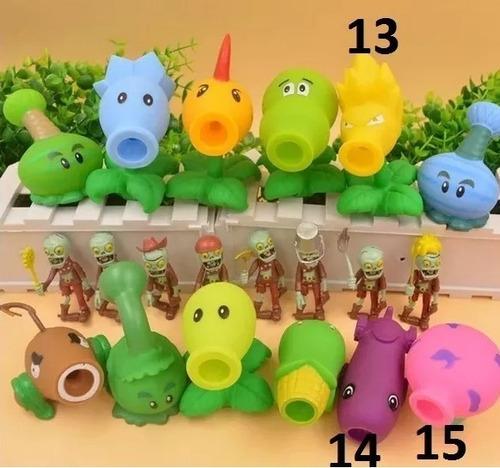 muñecos plantas vs zombies lanzador de bolas set 7 modelos