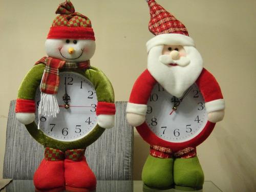 muñecos reloj navideño 2 modelos a elegir -- feliz navidad