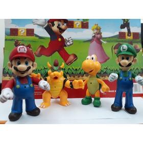 Muñecos Super Mario Run - Set X 4 Personajes