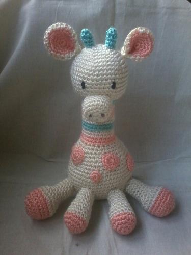 muñecos tejidos en crochet. jirafa bebé.100% artesanal