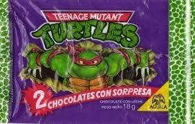 muñecos tortugas ninjas chocolate aguila - 90´s- canjee vta