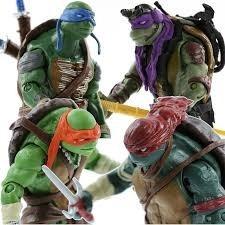muñecos tortugas ninjas x4 unidades. env.todo el pais