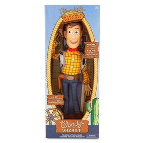 b767e09bb04f4 Muñeco Habla Woody Vaquero Original Disney Store Toy Story