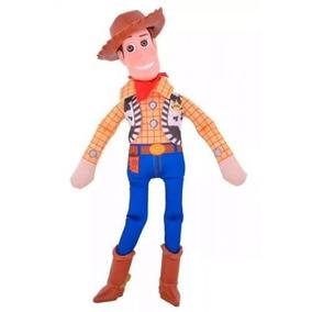 d787c042c1a0f Toy Story Woody 40cm Tela Cabeza Goma Con Luz Sonido Disney