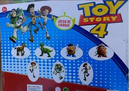 muñecos toy story x 4 + máscara buzz lightyear luz sonido.
