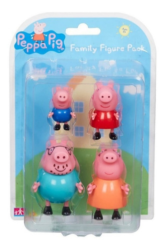 muñecos x4 familia peppa pig george mama papa mundo manias