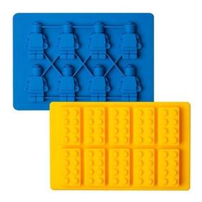f070ae490e65 Muñecos Y Bloques Lego Molde De Silicón Hielo Chocolate