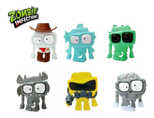 muñecos zombie infection 2  movimiento 11cm finn