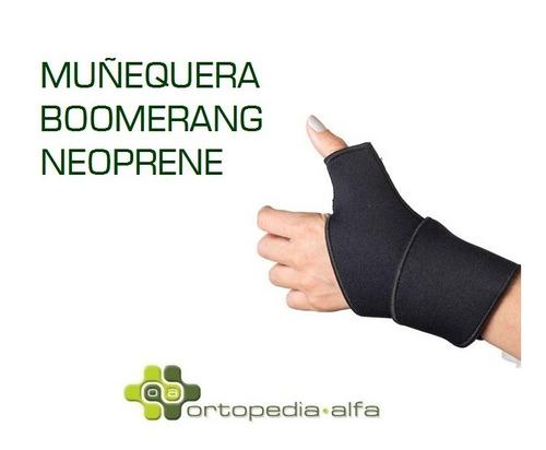 muñequera boomerang ajustable neoprene de calidad