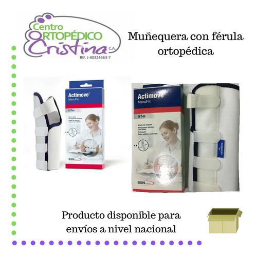 muñequera con ferula ortopédica túnel carpiano