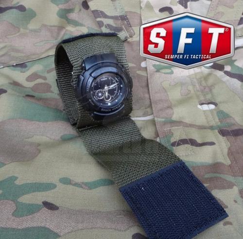 muñequera cubre reloj verde oliva de semper fi tactical®