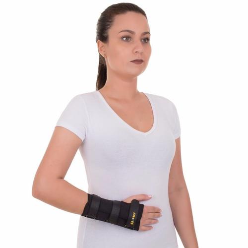 munhequeira c/ tala pulso punho bilateral preta