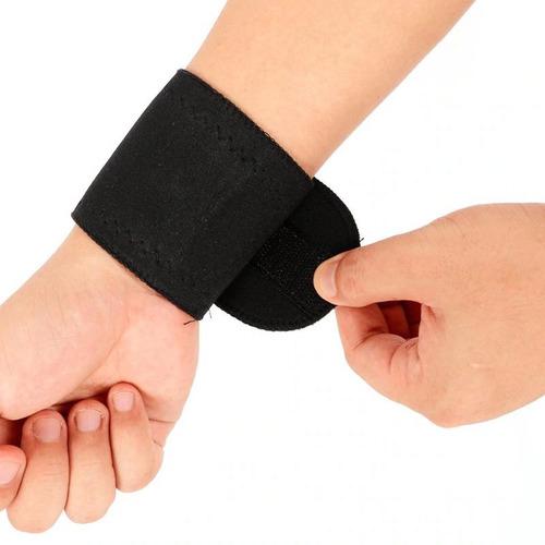 munhequeira magnética turmalina alivio de dor pulso aberto