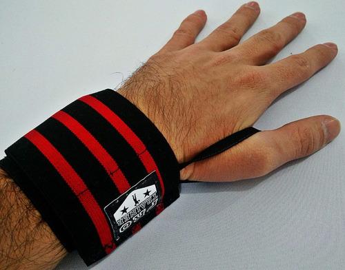 munhequeira vermel crossfit musculação lesões elástica pulso