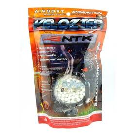 Munição Esferas Airsoft Bbs Velozter Ntk 0.12g 6mm 2000un