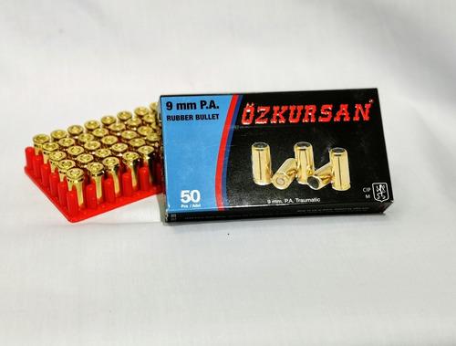munición traumática ozcursan caja x 50 9mm