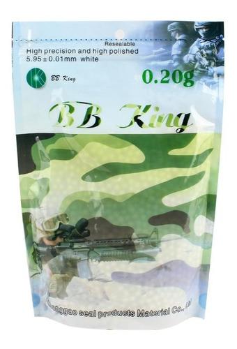 munição bb esferas bolinha plástico 6mm bb king 0.20g 5000un