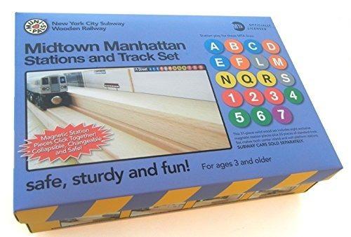 munipals midtown manhattan de madera 23 piezas estació...