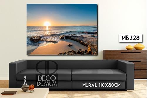mural 110x80cm cuadro decorativo paisaje playas moderno diseño personalizado