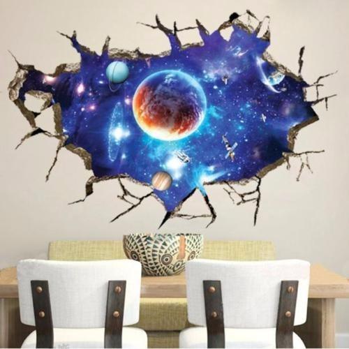 mural adhesivo 3d pisos paredes  espacio infinito calcomania