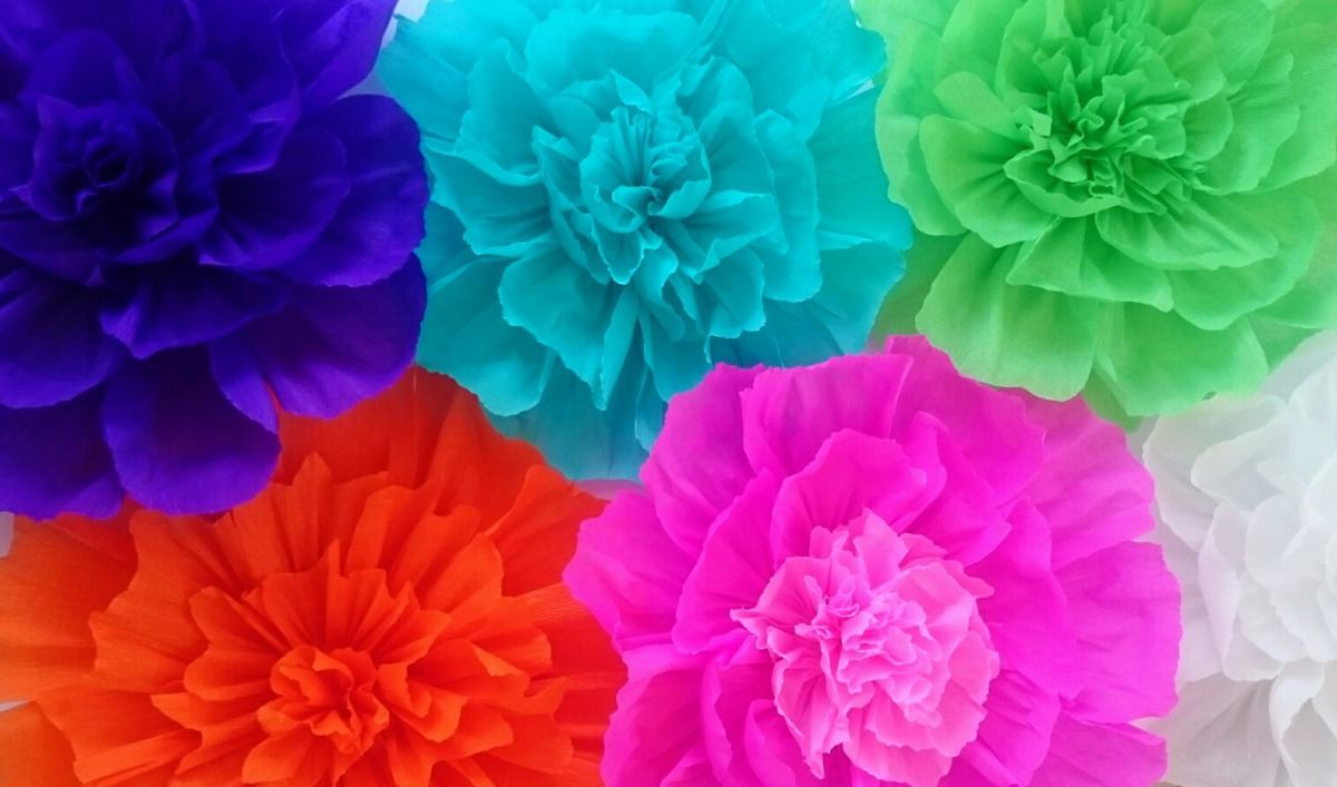 Flores De Papel Crepe Image May Contain Flower And Food Enfeite - Flores-de-papel-crepe