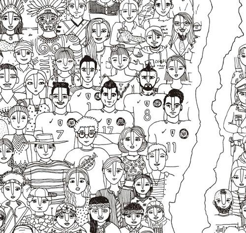 mural decorativo mapa fulanos de chile - lámina mappin