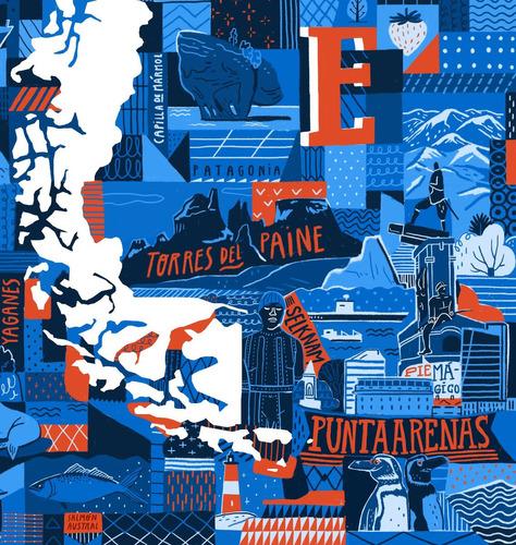 mural decorativo mapa patchwork - lámina mappin