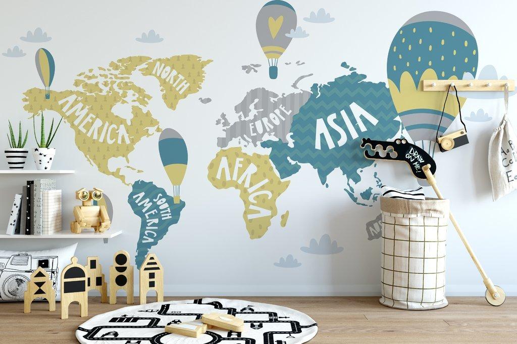 Mural Decorativo World Map Wallpaper X M2