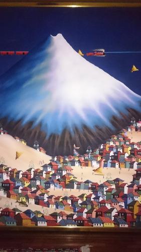 mural del maestro endara crow 2 m alto x 1, 60 m ancho