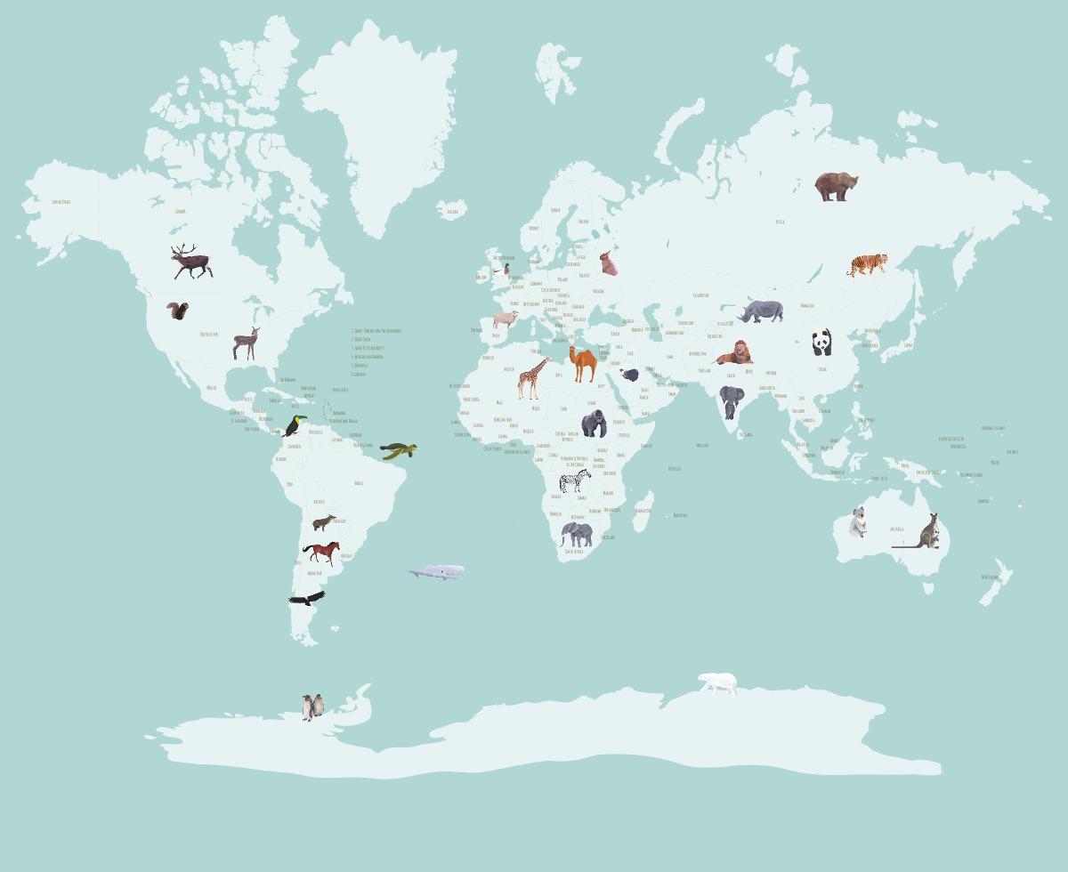 Mapa Mundi Mural. Best Vinilo Mapamundi Tie Dye With Mapa Mundi ...