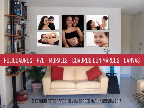 mural en pvc, 40 x 60 cm con collage de fotos