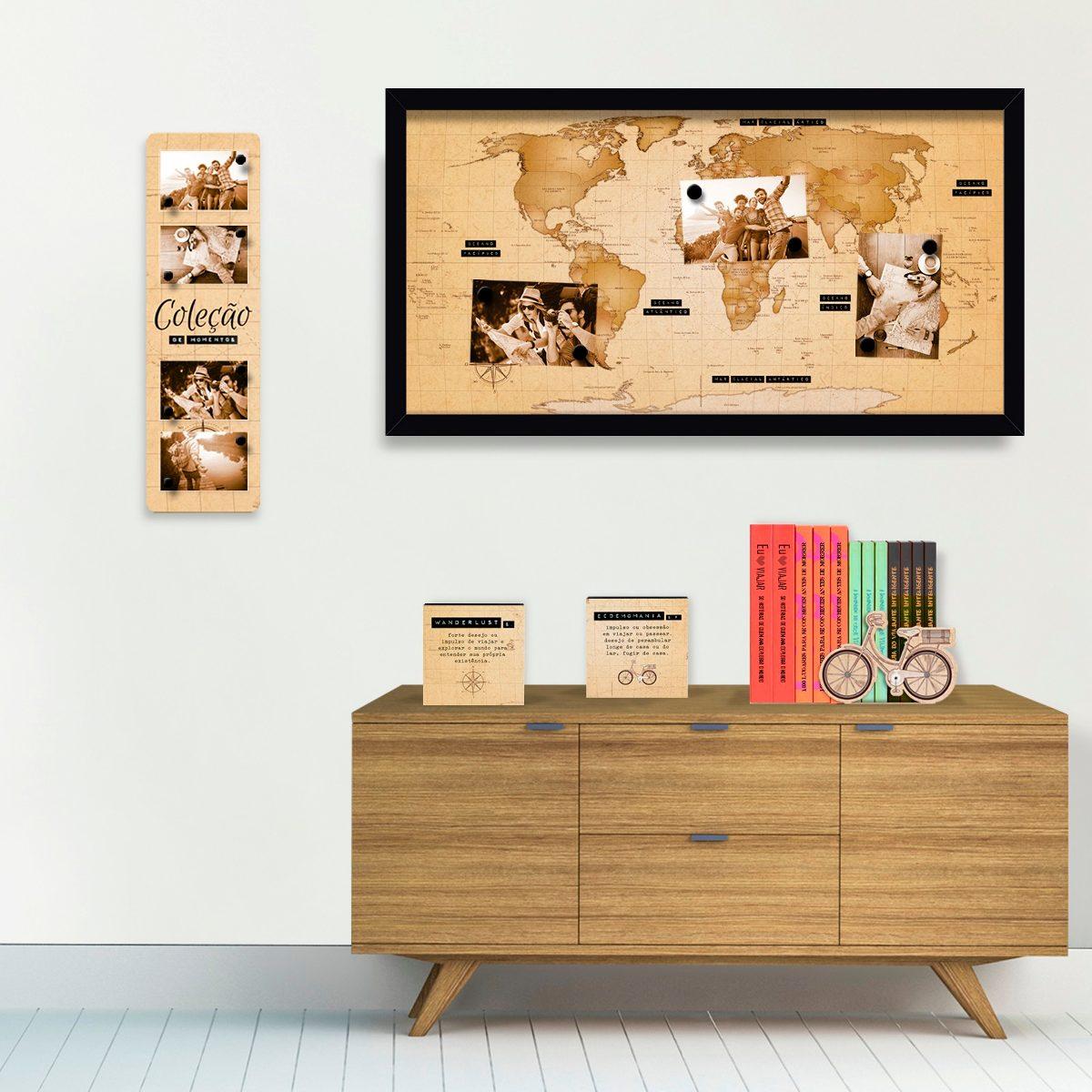Mural Mapa Explore - Mapa Mundi - Geguton - R$ 189,99 em Mercado Livre