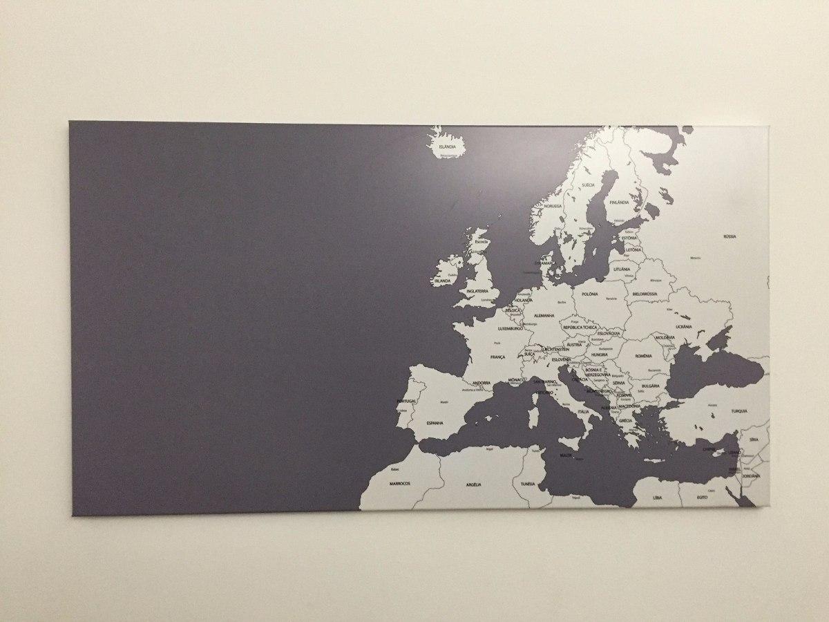 Mural Mapa Mundi Magnético Da Europa Para Fotos E Imãs 90x50 - R ...