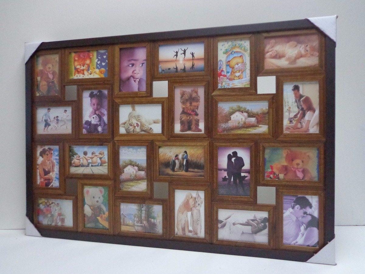 Mural quadro painel moldura madeira fotos 24 tabaco - Mural de fotos ...