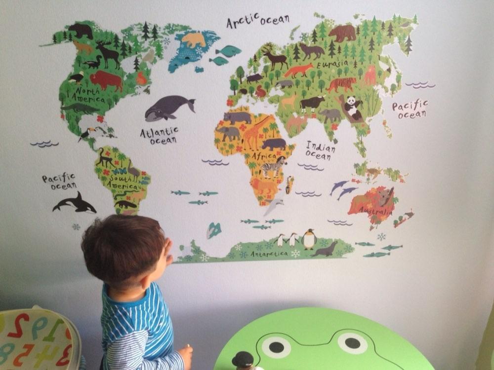 Mural sticker adhesivo mapa mundi mundo en - Mapa mundi mural ...