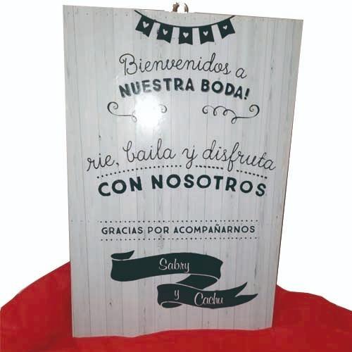 mural y urna buzón para sobres de regalo  bodas casamiento