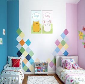 Murales Con Nombre Personalizado Cuartos Infantiles
