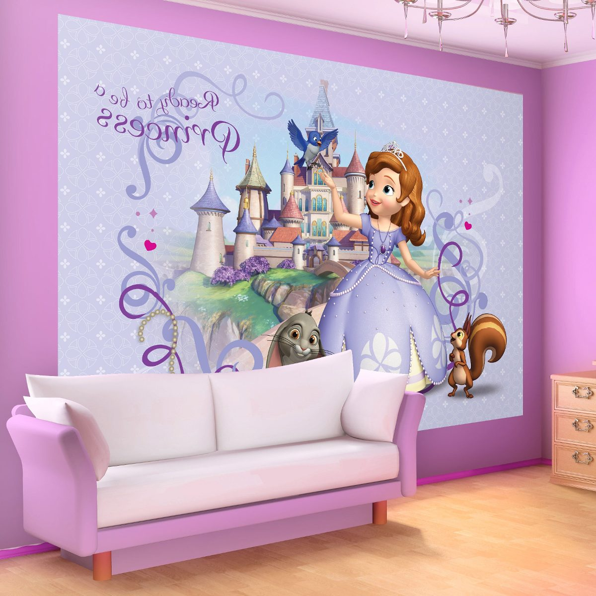 Murales decorativos infantiles princesas viniles hilocolor for Murales para decoracion